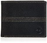 Timberland mens Sportz Quad Leather Passcase Wallet Sportz Quad Leather Passcase Wallet, Black (Quad Stitch), One Size