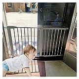 Puerta De Seguridad para Bebés, 76cm De Altura Valla Divisoria con Montajes De Presión Barandillas para Niños por Portales Pasillos Cierre Automático (Color : White, Size : 229cm-235cm)
