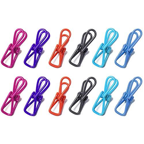 YuuHeeER Pinzas para ropa de metal, multiuso, pinzas para toalla de playa, resistentes al viento, 20 unidades