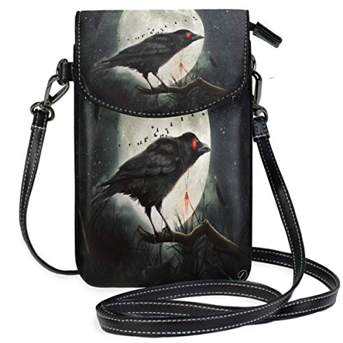 XCNGG bolso del teléfono Crow Cell Phone Purse Wallet for W