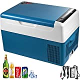 KITGARN 22L Compressor Portable Small Refrigerator Car Refrigerator Freezer Vehicle Car Truck RV Boat Mini Electric Cooler for Driving Travel Fishing Outdoor and Home Use