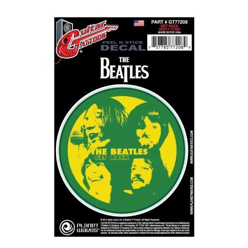 Planeet Golven Beatles Gitaar Tattoo - Sticker Terug