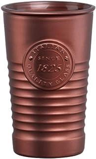 Bormioli Rocco Factoría 1825 Vaso Cristal, Bronce, 8 X 8 X 12 cm