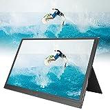 Tragbarer Monitor, HDR 1080P 15,6-Zoll-IPS-Bildschirm mit tragbarem Display Computerbildschirm...