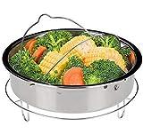 Secura Stainless Steel 6-quart Electric Pressure Cooker Steam Rack Steamer Basket Insert Set
