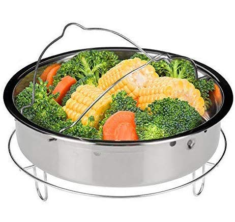 Price comparison product image Secura Stainless Steel 6-quart Electric Pressure Cooker Steam Rack Steamer Basket Insert Set