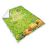 COMBON Shop Mantas de Pascua de dos tamaños súper suaves y lujosos patrones de manta – se adapta a la hora del almuerzo...