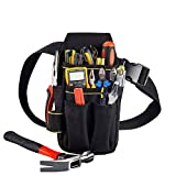 Copechilla Tool Pouches Electrician Professional and Belts,23X13X5CM,15 Pockets,Black,Material Double Layer Thickening 600D Oxford,Heavy