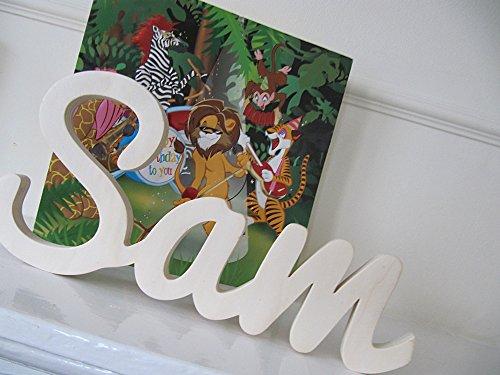 Vorlagen aus Holz, personalisierbar Sam, Kinderzimmer Dekore, Taufe, Geschenk, Geburtstag, Baby, MIA STUDIO,Kontaktieren Sie den Verkäufer über die Amazon-Nachricht, um den Namen und die Farbe anzugeben
