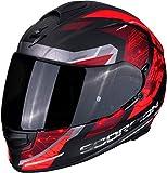 Scorpion Motorradhelm EXO-510 AIR CLARUS Matt Black-Red, Schwarz/Rot, L