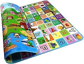 سجادة اطفال بمقاس 2 متر × 1.8 متر، بتصميم المزرعة السعيدة للنشاط واللعب والزحف