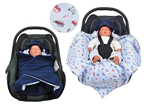 Hobea Baby-Decke, klein, blau mit Sternen