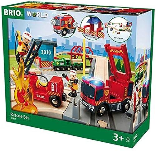 BRIO World 33817 - Bahn Größes Feuerwehr Deluxe Set, bunt
