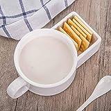 xingfuankang Tazza per Biscotti Tazza da tè al Latte in Ceramica Tazza Divertente per Il Viso 3D Tazza da caffè Creativa con Porta Biscotti novità Regalo di Compleanno-3