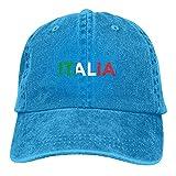 cercehy sonxs Italia Italia Italia bandera italiana clásica ajustable Denim Cap gorra de béisbol sombreros para mujeres y hombres azul