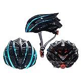 DETZH Mountain Bike Helmet, Regolabile Skateboard Casco Impact Resistenza Protezione Sicurezza Confortevole Leggero Strada Caschi da Bicicletta per Adulto Uomini Donne,Nero