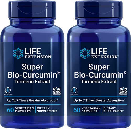Super Bio Curcumin 400 mg - 60 ct (Pack of 2) (Packing May vary)