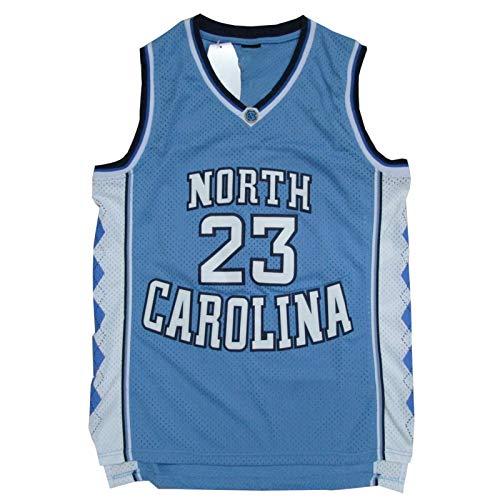 Jordán Jersey # 23 Bulls North Carolina Baloncesto para Adultos, Bordado Estilo clásico sin Mangas de Entrenamiento sin Mangas Ropa Shorts (S-XXL) blue1-XXL