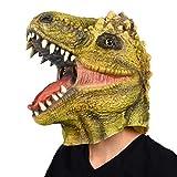 Finalshow Dinosaurier Maske Latex T-Rex Tiermaske Kopf Drachen Kostüm für Halloween Weihnachten...