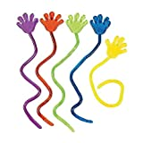 Adorox 72 Pieces Vinyl Glitter Sticky Hands Party Favor Birthday Gifts Toys Goodies (1 1/4' Long)