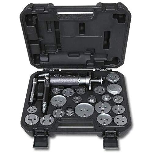 Beta 1471M/C22 Druckluftwerkzeug im Kunststoffkoffer, Zubehör zum Ausziehen und Drehen von Scheibenbremskolben (professionelles Werkzeug mit 150 kg Schubkraft und 5÷8 bar Betriebsdruck), Schwarz