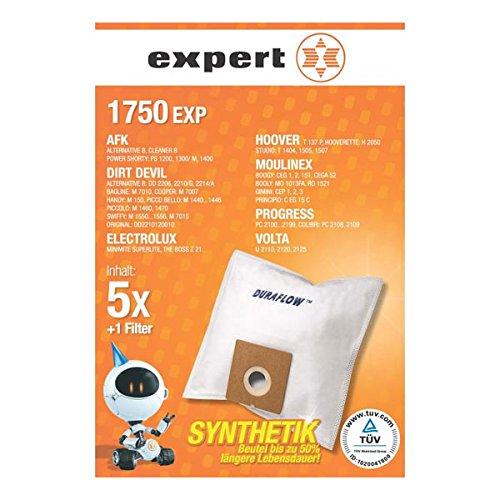 Expert 1750 EXP Staubbeutel (DEXT 210 DURAFLOW) für AFK Dirt Devil Electrolux Hoover Moulinex Progress Volta
