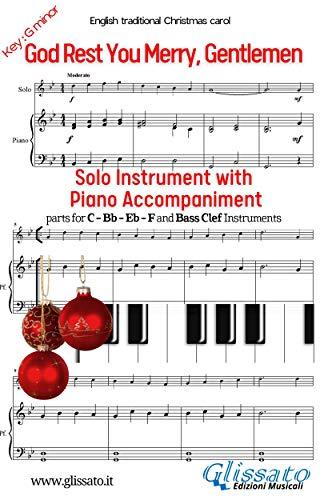 God Rest Ye Merry,Gentlemen - Solo with Piano acc. (key Gm) (Christmas Carols) (English Edition)