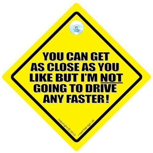 Suction Cup Vehicle Window Sign Narcissist On Board Sign Yellow and Black Car Sign
