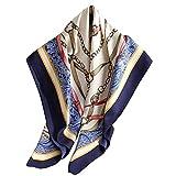 Ecroon Bufanda Fulares Pañuelos para la cabeza Bufandas Pañuelo de Cuadrado para Mujer Cuadrada Seda Turbante