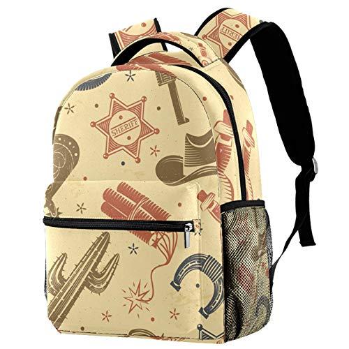 Shiiny Cowboy Cactus Pattern Kids Children Sport Bag Backpack Daypack Rucksack Kindergarten School for Boys Girls