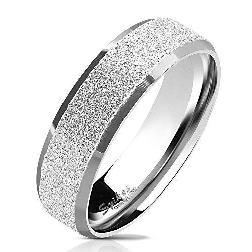 70 (22.3) Bungsa© silberner RING für Männer & Damen - sandgestrahlter, silberner Herren-Ring aus EDELSTAHL mit abgerundeten Kanten - Edelstahlring geeignet als Verlobungs-Ringe & Freundschafts-Ringe
