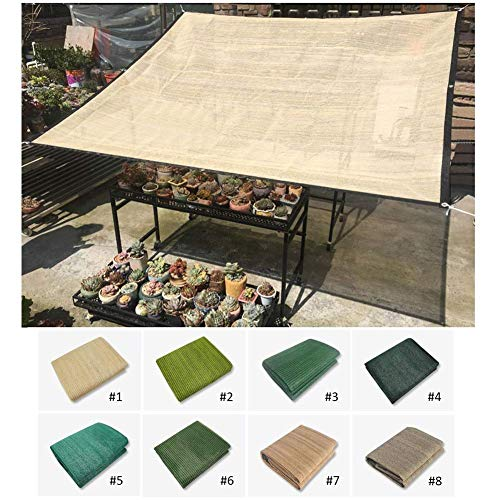 PLEASUR Party zonwering luifel rechthoek zonwering zeiloverkapping, anti-zonnebescherming luifel luifel luifel HDPE, 100 g/m2 grootte aanpasbaar, 8 kleuren (kleur: # 5, grootte: 1x1,8 m)