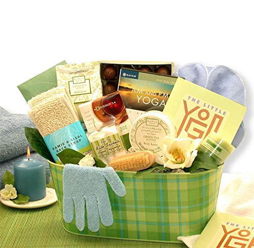 Organic Stores Yoga and Tea Essentials Gift Basket for Her