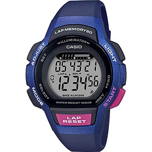Casio Reloj Digital para Mujer de Cuarzo con Correa en Resina LWS-1000H-2AVEF