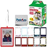 Fujifilm Instax Mini Instant Film Twin Pack (20 Sheets) | Fujifilm Holiday Frame Stickers | Fujifilm Holiday Ornament