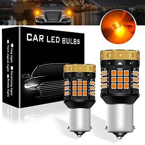 Teguangmei Bombillas de Luz de LED Señal de Giro, Anti Hyper Flash Ámbar 1850LM 1156 BA15S P21W 7506 45SMD Canbus sin Errores para Luz de Señalización Delantera o Trasera, paquete de 2