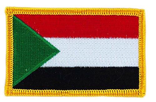 Patch Aufnäher Bestickt Flagge Sudan sudanesischen zum Aufbügeln