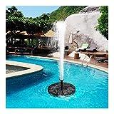XINXI-YW Conveniente Panel Solar de la Fuente de Agua del jardín de la Bomba de la Fuente Solar del jardín Fuentes Cascadas de energía Solar Waterfontein Mini Fuente de energía Solar Decorativo