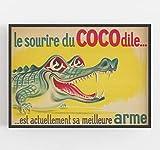 Krokodil-Druck, Retro-Poster, Alligator-Druck,