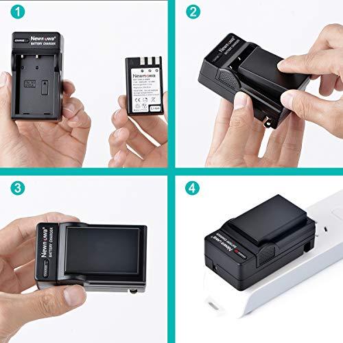Newmowa EN-EL9/EN-EL9a Replacement Battery (2-Pack) and Charger Kit for Nikon D40, D40X, D60, D3000, D5000