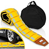 Pyle Portable Vehicle Traffic Speed Bump - 9 Feet Heavy Duty Reflective Plastic...