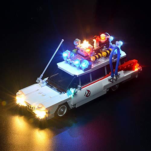 BRIKSMAX Led Beleuchtungsset für Ghostbusters Ecto-1, Kompatibel Mit Lego 21108 Bausteinen Modell - Ohne Lego Set