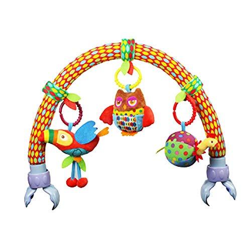 arthomer Cama de música para bebé Colgantes y Cunas Decoraciones de Buggy con Arco de Doble Uso de suspensión Incluyen Squeak Sonajero Mordedor