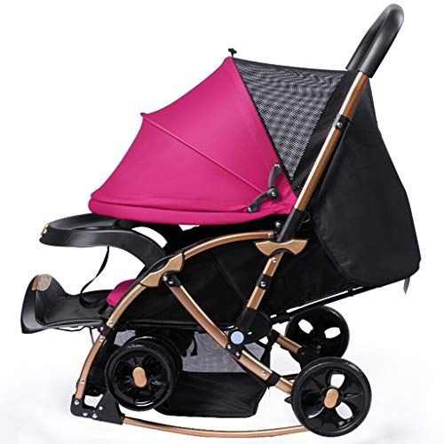 Review Of JAD@ Baby Stroller Can Sit Reclining Two-Way Implementation of Easy Folding Stroller Summe...
