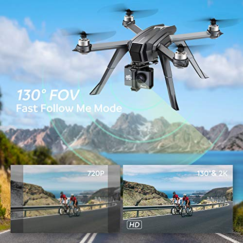Potensic D85 FPV GPS Drone with 2K HD Camera Live Video, 5G WiFi RC Quadcopter Brushless Follow Me