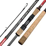 BERRYPRO Salmon & Steelhead Spinning Rod IM8 Carbon Walleye Fishing Rod (8'6''/9'/9'6''/10'/10'6'') (8'6'')