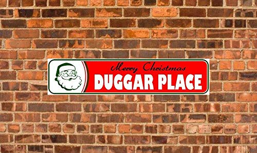 Uptell Metal Sign Duggar PlaceMerry Christmas Outdoor Sign Room Vintage Fashion Decorative Indoor Plaque Poster 4X16