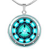iron arc reactor - Fa Gifts Arc Reactor Pendant Necklace, Iron Man Necklace, I Love You Three Thousand 3000 Circle Necklace, Iron Man Arc Reactor - Luxury Necklace Silver - Includes Gift Box!