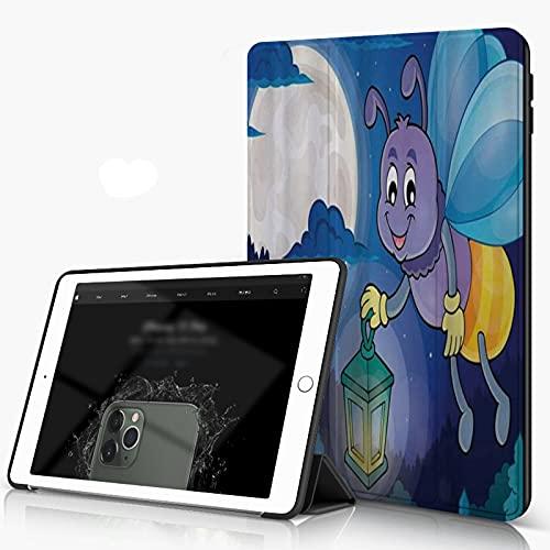 Carcasa para iPad 10.2 Inch, iPad Air 7.ª Generación ,Firefly Little Bug volando con linterna en el cielo de luna llena Noche infantil inf,incluye soporte magnético y funda para dormir/despertar