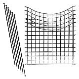 1PLUS Teichzaun Set/Komplett-Set in verschiedenen Verpackungseinheiten und Formen - Sparset mit Oberbogen oder Unterbogen (5X Unterbogen, Anthrazit)